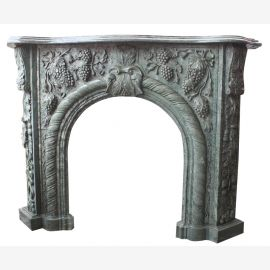Gray wine marble fireplace from full stone