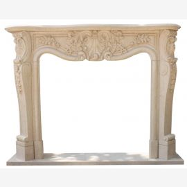 Marble fireplace, fireplace facade made to measure solid marble K019