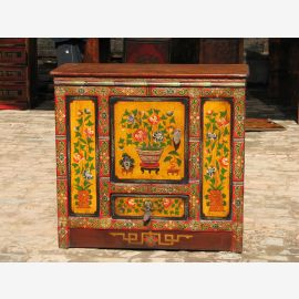 Solid wood cabinet from Tibet with less painting.