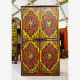 Cabinet made of high quality wood with Tibetan motif.
