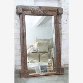 India frame door arch genuine antique with mirror
