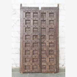 India solid door antique teak VI-ED-015
