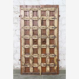 India solid door antique teak VI-ED-016