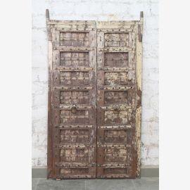 India solid door antique teak VI-ED-017