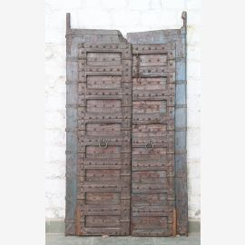 India solid door antique teak VI-ED-025
