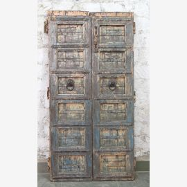 India solid door antique teak VI-ED-026