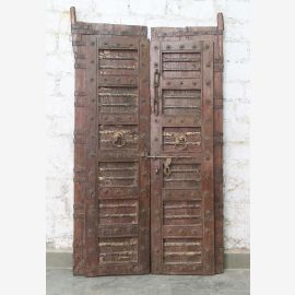 India solid door antique teak VI-ED-028