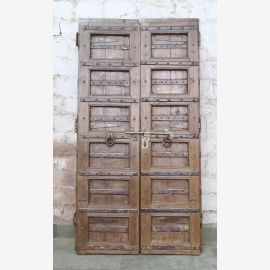 India solid door antique teak VI-ED-029