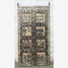 India solid door antique Teak VI-ED-030