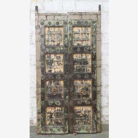 India solid door antique Teak VI-ED-030