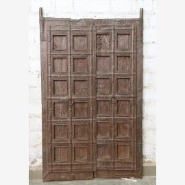 India solid door antique teak VI-ED-031