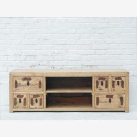 Flat screen pine dresser lowboard for China