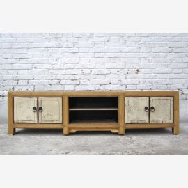China Lowboard Natural / White Solid furniture