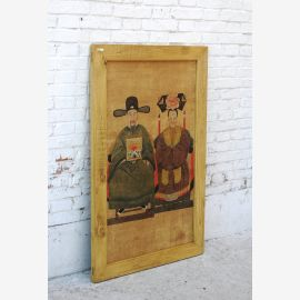 China's large mural portrait of wedding couple pine