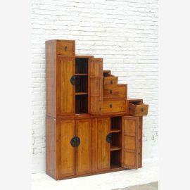 Tangsu high natural pine chest diagonally stepped